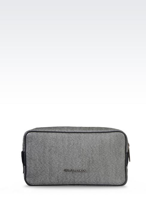 WASH BAG IN PVC WITH LEATHER DETAILING: Beauty cases Men by Armani - 1