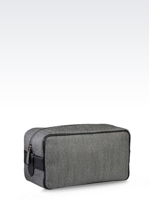 WASH BAG IN PVC WITH LEATHER DETAILING: Beauty cases Men by Armani - 2