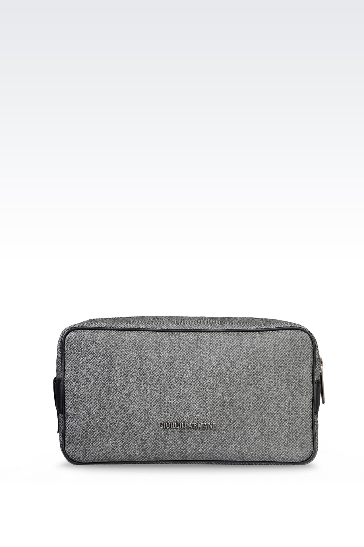 WASH BAG IN PVC WITH LEATHER DETAILING: Beauty cases Men by Armani - 0