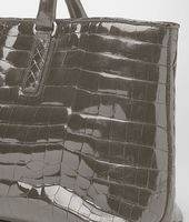 Shadow Shiny Crocodile Fumé Fenice Bag