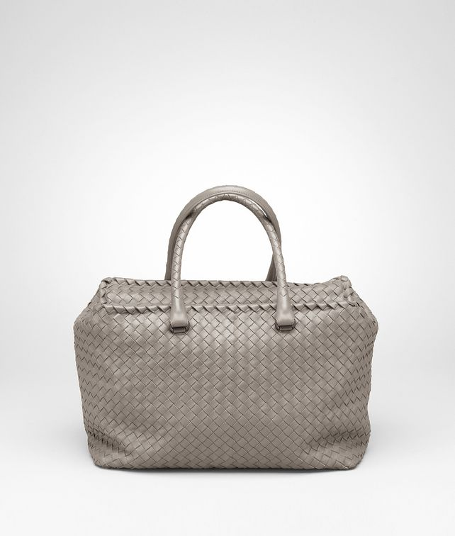 BOTTEGA VENETA Fume Intrecciato Nappa Brick Bag Top Handle Bag D fp