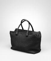 Nero Intrecciato Nappa Brick Bag
