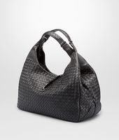 LARGE CAMPANA BAG IN NERO INTRECCIATO NAPPA