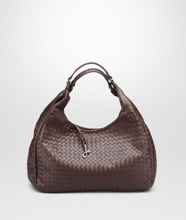 BOTTEGA VENETA Ebano Intrecciato Nappa Campana Bag Shoulder or hobo bag D fp