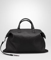 MAXI CONVERTIBLE BAG IN NERO INTRECCIATO NAPPA
