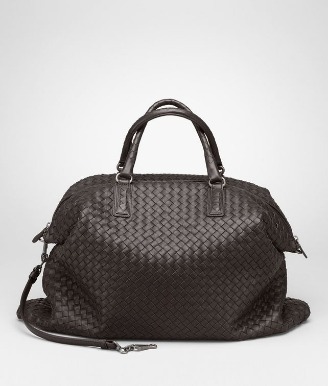 BOTTEGA VENETA Ebano Intrecciato Nappa Convertible Bag Top Handle Bag D fp