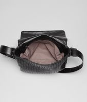 Nero Intrecciato Light Calf Cross Body Messenger
