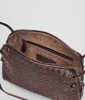 Ebano Intrecciato Nappa Cross Body Bag