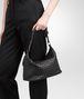 BOTTEGA VENETA SMALL SHOULDER BAG IN NERO INTRECCIATO NAPPA Shoulder or hobo bag D lp
