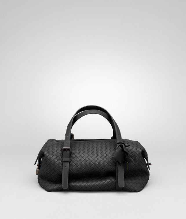 BOTTEGA VENETA Nero Intrecciato Nappa Montaigne Bag Top Handle Bag D fp
