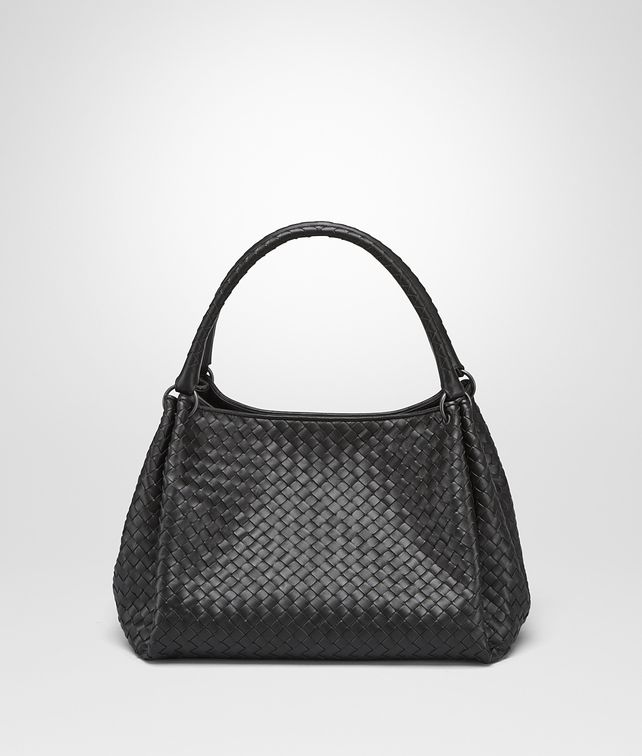BOTTEGA VENETA PARACHUTE BAG IN NERO INTRECCIATO NAPPA Shoulder or hobo bag D fp