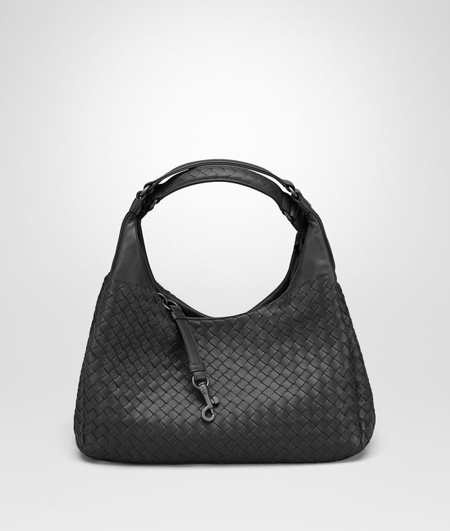 MEDIUM CAMPANA BAG IN NERO INTRECCIATO NAPPA