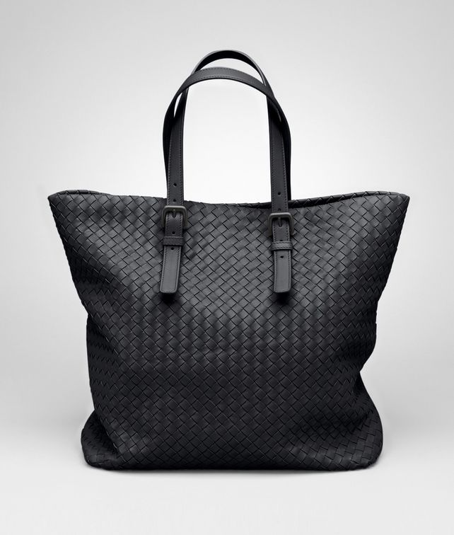 BOTTEGA VENETA Tote Bag aus Nappaleder Intrecciato Nero Shopper D fp