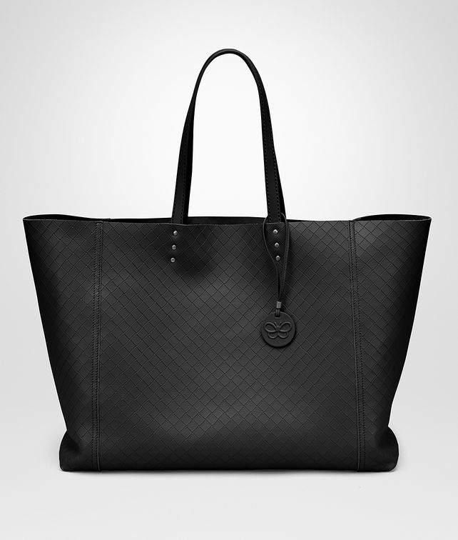 BOTTEGA VENETA LARGE TOTE BAG IN NERO INTRECCIOMIRAGE Tote Bag D fp