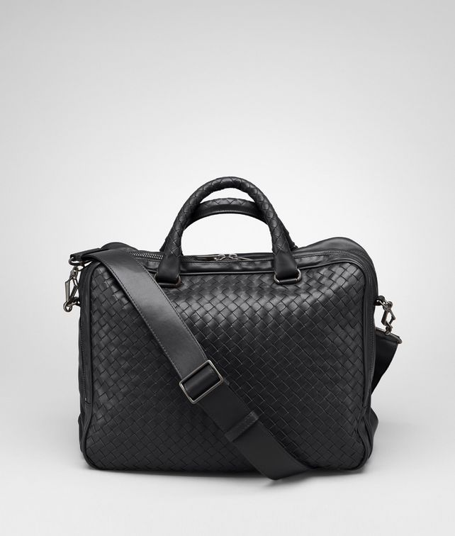 Nero Intrecciato Light Calf Informale Bag