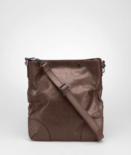 BOTTEGA VENETA - Light Calf Scolpito Cross Body Bag