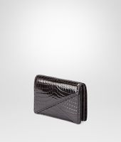 Nero Shiny Crocodile Clutch