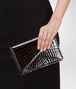 BOTTEGA VENETA Nero Shiny Crocodile Clutch Clutch D ap