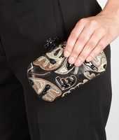KNOT CLUTCH IN MULTICOLOR BUTTERFLY