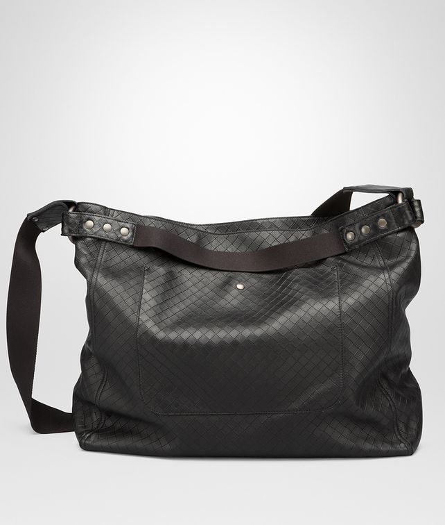 NERO INTRECCIOMIRAGE LAVE' MESSENGER BAG