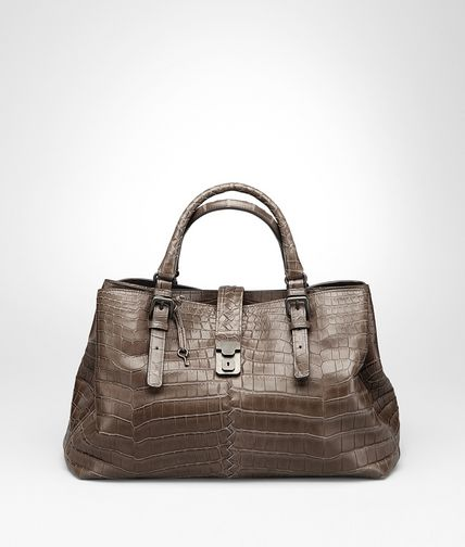 Edoardo Soft Crocodile Fume Roma Bag