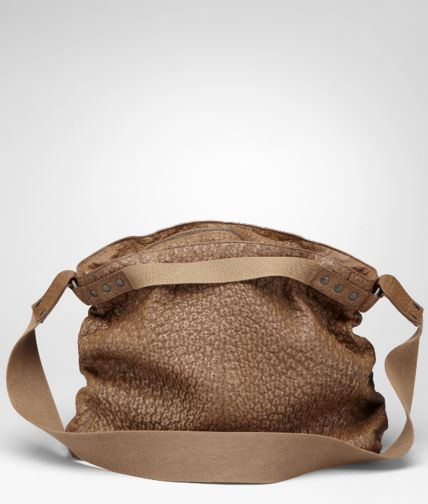 BOTTEGA VENETA - Washed Antique Ostrich Cross Body Bag