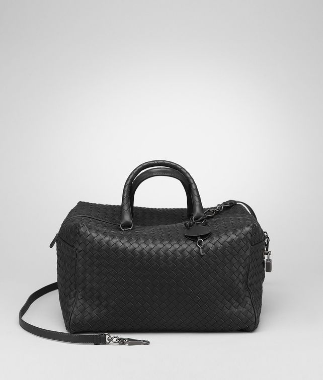 BOTTEGA VENETA Nero Intrecciato Nappa Bag Top Handle Bag D fp