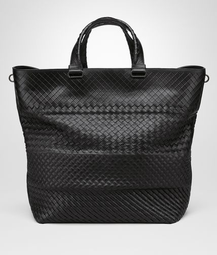 TOTE BAG IN NERO INTRECCIO IMPERATORE
