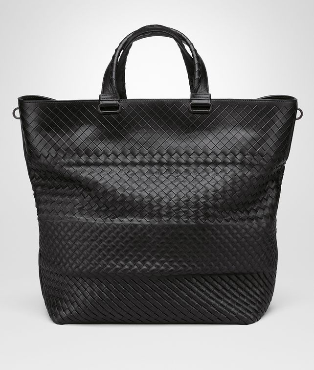 TOTE BAG AUS INTRECCIO IMPERATORE IN NERO