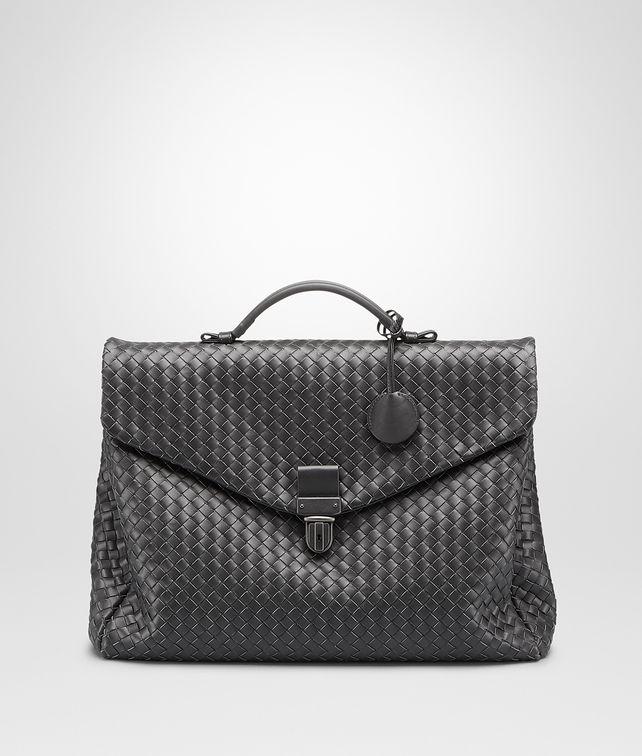 BOTTEGA VENETA SMALL BRIEFCASE IN ARDOISE INTRECCIATO VN Business bag U fp