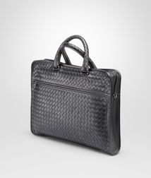BOTTEGA VENETA - Briefcases, Ardoise Intrecciato Light Calf Briefcase