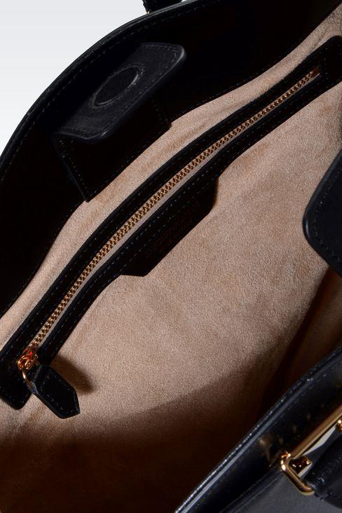 TOTE BAG IN BOARDED CALFSKIN: Shoppers Women by Armani - 3