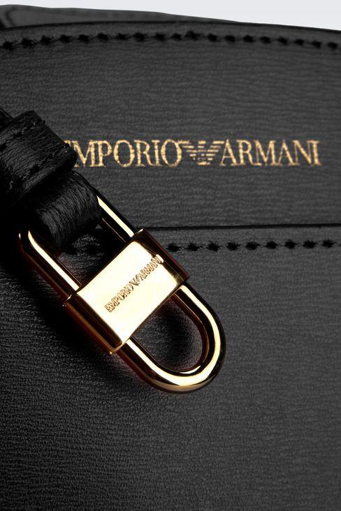 TOTE BAG IN BOARDED CALFSKIN: Shoppers Women by Armani - 4