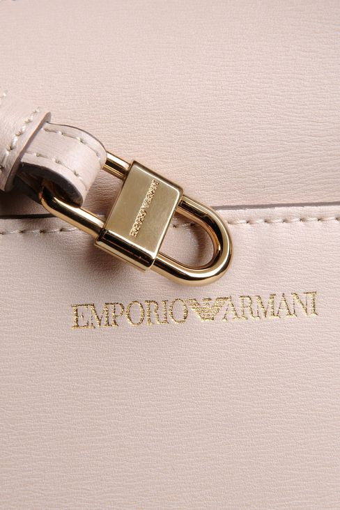 SMALL HANDBAG IN BOARDED CALFSKIN WITH DETACHABLE SHOULDER STRAP: Top handles Women by Armani - 4