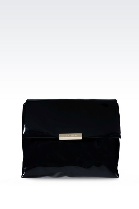 PATENT SHOULDER BAG: Messenger bags Women by Armani - 1