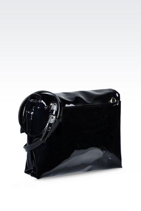 PATENT SHOULDER BAG: Messenger bags Women by Armani - 2