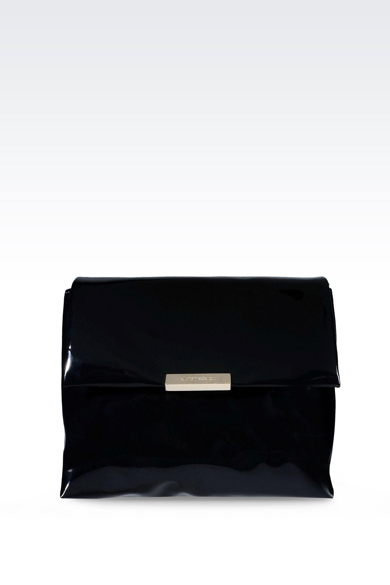 PATENT SHOULDER BAG: Messenger bags Women by Armani - 0