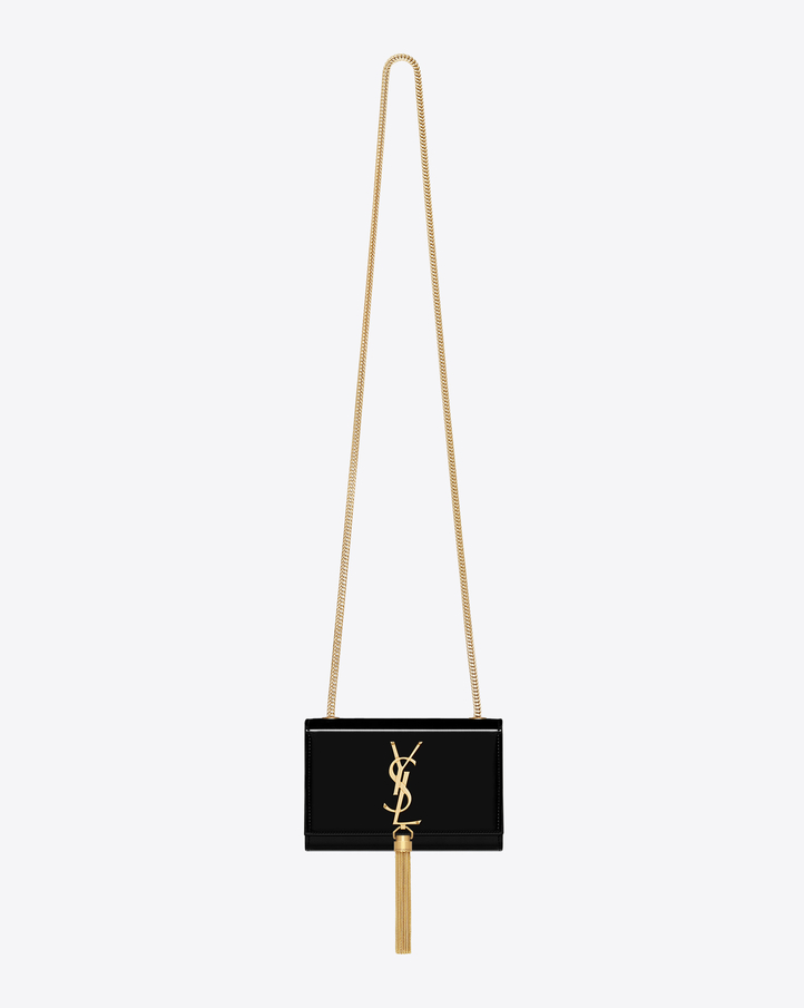 Saint Laurent Small Monogram Bag In Black Patent Leather | YSL.com