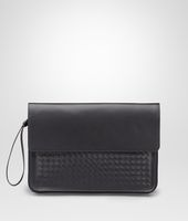 DOCUMENT CASE IN NERO CALF, INTRECCIATO DETAILS