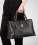 BOTTEGA VENETA Ardoise Light Calf Intrecciato Roma Bag Top Handle Bag D ap
