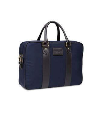 ERMENEGILDO ZEGNA: Office and laptop bag Black - Blue - 45208560QB