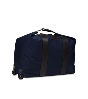 ERMENEGILDO ZEGNA: Wheeled luggage Blue - 45208564FL