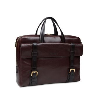 ERMENEGILDO ZEGNA: Office and laptop bag Maroon - Blue - Steel grey - 45208566XJ