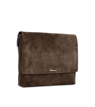 ERMENEGILDO ZEGNA: Shoulder bag Dark brown - 45208573AF