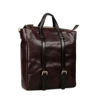 ERMENEGILDO ZEGNA: Shoulder bag Maroon - Blue - Steel grey - 45208574UW