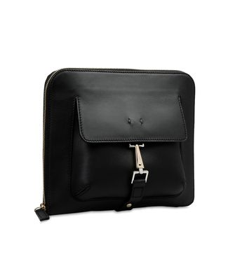 ERMENEGILDO ZEGNA: Shoulder bag Black - Blue - 45208576AH