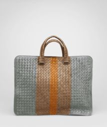 BOTTEGA VENETA - Briefcases, Frontiere Bronze Kari Intrecciato Club Fume Briefcase