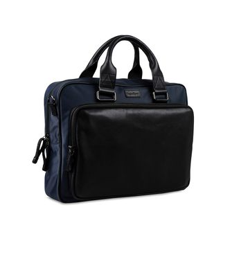 ZEGNA SPORT: Office and laptop bag Black - Blue - 45208618DE