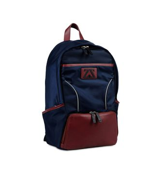 ZEGNA SPORT: Backpack Maroon - Blue - 45208622sv