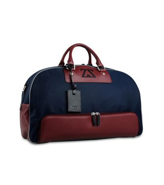 ZEGNA SPORT: Travel bag Maroon - Steel grey - 45208934CJ